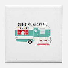 Gone Glamping Tile Coaster