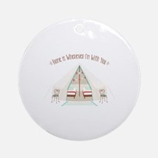 Im With You Round Ornament