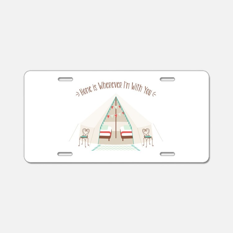 Im With You Aluminum License Plate