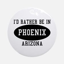 I'd Rather Be in Phoenix, Ari Ornament (Round)