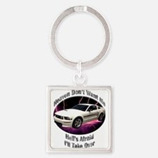Ford Mustang GT Square Keychain