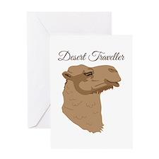 Desert Traveller Greeting Cards