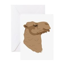 Camel Head Greeting Cards