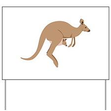 Kangaroo Yard Sign