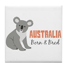 Australia Born & Bred Tile Coaster