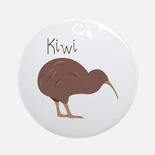 Kiwi Bird Round Ornament