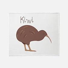 Kiwi Bird Throw Blanket