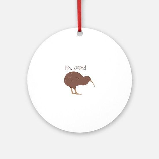 New Zealand Bird Round Ornament