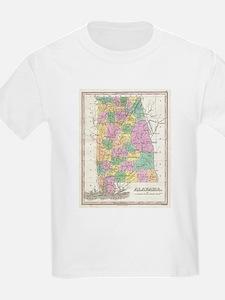 Vintage Map of Alabama (1827) T-Shirt