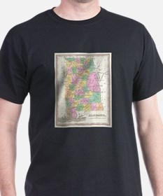Vintage Map of Alabama (1827) T-Shirt