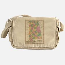 Vintage Map of Alabama (1827) Messenger Bag