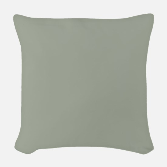 Desert Sage Solid Color Woven Throw Pillow