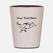 Wolf Running Shot Glass