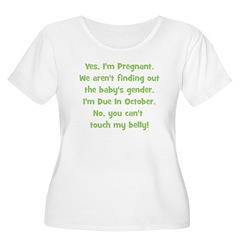 Pregnant Suprise due October T-Shirt