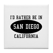 I'd Rather Be in Sand Diego, Tile Coaster