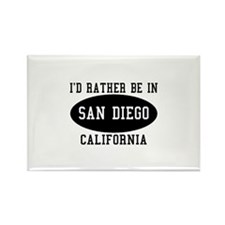 I'd Rather Be in Sand Diego, Rectangle Magnet (10