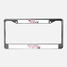 Snack Shack License Plate Frame