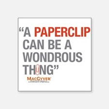 """MacGyver: Paperclip Square Sticker 3"""" x 3"""""""