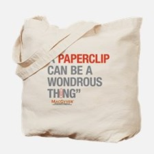 MacGyver: Paperclip Tote Bag