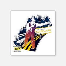 "Taxi Louieland Square Sticker 3"" x 3"""