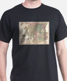 Vintage Map of Southern Scotland (1818) T-Shirt