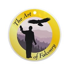 The Art of Falconry Ornament (Round)