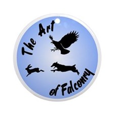The Art of Falconry-JRT Ornament (Round)