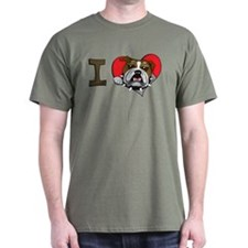 I heart bulldogs T-Shirt