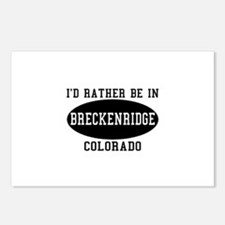 I'd Rather Be in Breckenridge Postcards (Package o