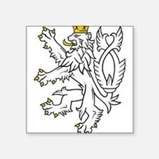 "Cute Czech coat of arms Square Sticker 3"" x 3"""