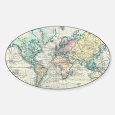 Vintage Map of The World (1 Decal