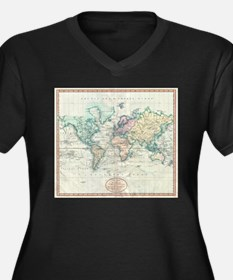 Vintage Map of The World (1801) Plus Size T-Shirt