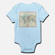 Vintage Map of The World (1801) Body Suit