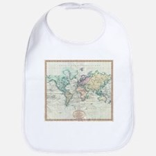 Vintage Map of The World (1801) Bib
