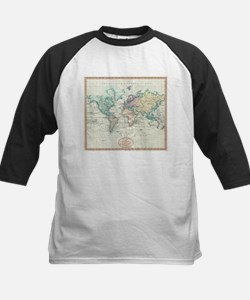 Vintage Map of The World (1801) Baseball Jersey