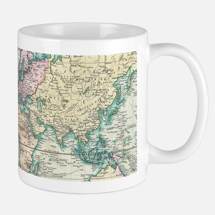 Vintage Map of The World (1801) Mugs
