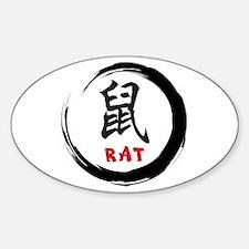Zen Rat Oval Decal