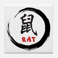 Zen Rat Tile Coaster