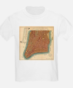 Vintage Map of Lower New York City (1807) T-Shirt