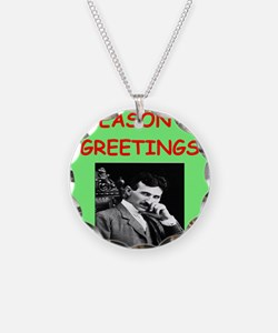 Funny Physics christmas Necklace