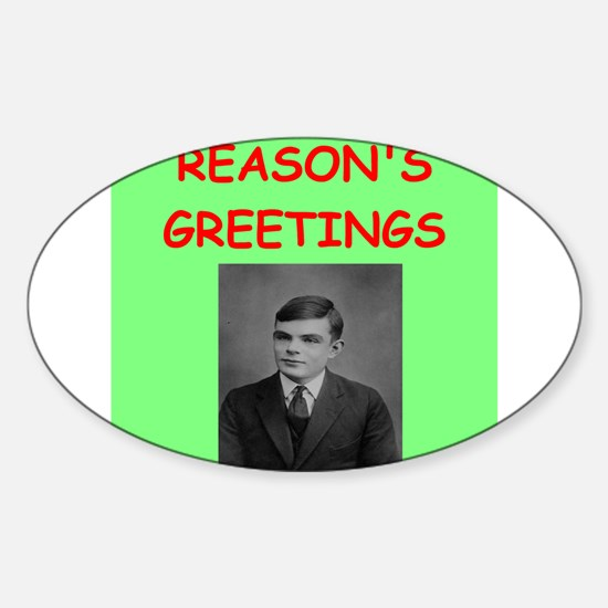 alan turing Sticker (Oval)