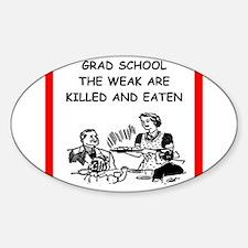 grad student Sticker (Oval)