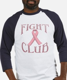 Fight Club with Pink Ribbon Baseball Jersey
