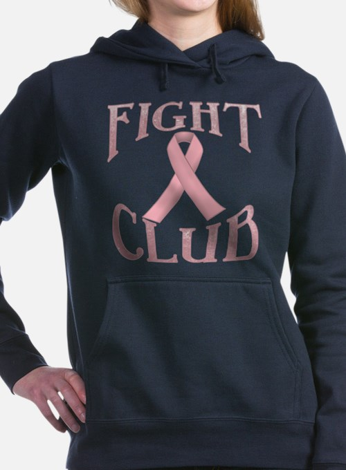 Fight Club with Pink Rib Women's Hooded Sweatshirt
