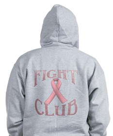 Fight Club with Pink Ribbon Zip Hoody