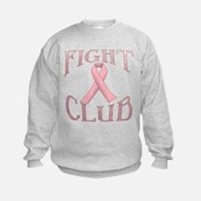 Fight Club with Pink Ribbon Sweatshirt