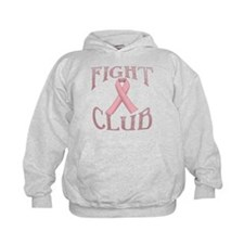Fight Club with Pink Ribbon Hoodie