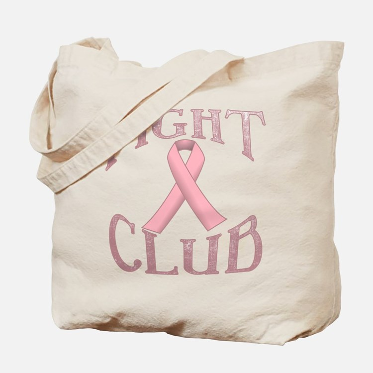 Fight Club with Pink Ribbon Tote Bag