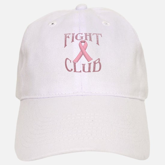Fight Club with Pink Ribbon Baseball Baseball Cap