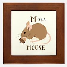 M For Mouse Framed Tile